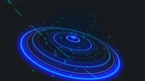 Progettazione di interfaccia futuristica HUD-tecnologia per ricoprire i video e giochi creare ologramma blu illustrazione vettoriale