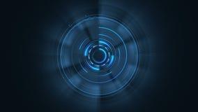 Progettazione di interfaccia futuristica HUD-tecnologia per ricoprire i video e giochi creare ologramma blu royalty illustrazione gratis