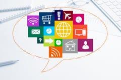Progettazione di interfaccia per il cellulare e l'applicazione web Fotografia Stock Libera da Diritti