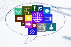 Progettazione di interfaccia per il cellulare e l'applicazione web Fotografie Stock Libere da Diritti