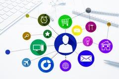 Progettazione di interfaccia per il cellulare e l'applicazione web Fotografia Stock