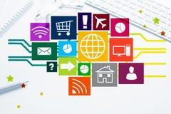 Progettazione di interfaccia per il cellulare e l'applicazione web Fotografie Stock