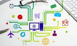 Progettazione di interfaccia per il cellulare e l'applicazione web Immagine Stock Libera da Diritti