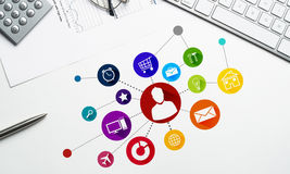 Progettazione di interfaccia per il cellulare e l'applicazione web Immagini Stock