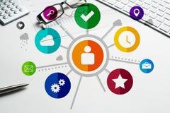 Progettazione di interfaccia per il cellulare e l'applicazione web Immagine Stock