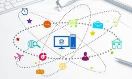 Progettazione di interfaccia per il cellulare e l'applicazione web Immagini Stock Libere da Diritti