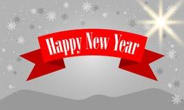 Progettazione di iscrizione di Buon Natale con i fiocchi di neve bianchi sul fondo grigio di pendenza Illustrazione EPS10 di vett illustrazione vettoriale
