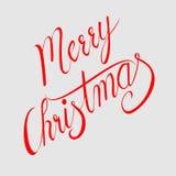 Progettazione di iscrizione calligrafica del testo di vettore di Buon Natale fotografia stock