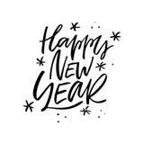 Progettazione di iscrizione del buon anno Immagini Stock
