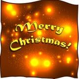 Progettazione di iscrizione di Buon Natale Fotografie Stock