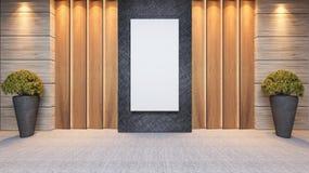 Progettazione di legno della decorazione della parete del pannello Fotografia Stock