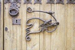 Progettazione di legno della porta Fotografia Stock Libera da Diritti