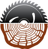 Progettazione di legno di logo di taglio Fotografie Stock Libere da Diritti