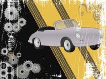 Progettazione di lerciume con la retro automobile sportiva Immagini Stock