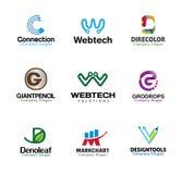 Progettazione di lettere creativa lucida Immagini Stock