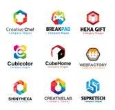 Progettazione di lettere creativa lucida Immagine Stock