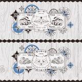 Progettazione di logo con la volpe ed il procione geometrici Fotografie Stock
