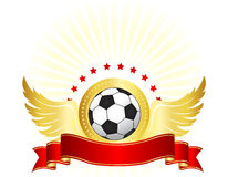 Progettazione di logo del club calcio/di calcio Fotografia Stock