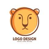 Progettazione di logo del leone Immagine Stock