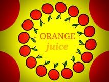Progettazione di logo dell'etichetta del succo d'arancia fotografie stock