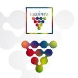 Progettazione di logo dell'etichetta del vino Fotografie Stock