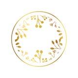 Progettazione di logo dell'oro Fotografie Stock Libere da Diritti
