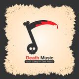 Progettazione di logo della banda di musica adatta a roccia, a metallo ecc illustrazione di stock