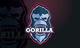 Progettazione di logo della gorilla fotografia stock libera da diritti