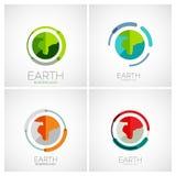 Progettazione di logo della società della terra illustrazione di stock