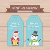 Progettazione di logo di Buon Natale marchio Progettazione di carta dell'etichetta di Natale per uso Immagini Stock Libere da Diritti