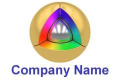 Progettazione di logo di Business, Company, rappresentazione 3D Immagini Stock Libere da Diritti
