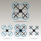 Progettazione di logo di Quadrocopters Fotografia Stock Libera da Diritti
