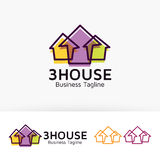Progettazione di logo di tre Camere Immagini Stock