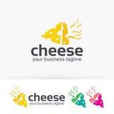 Progettazione di logo di vettore del formaggio Immagine Stock