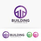 Progettazione di logo di vettore della costruzione Fotografie Stock