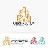 Progettazione di logo di vettore della costruzione Fotografia Stock