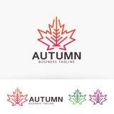 Progettazione di logo di vettore di Autumn Studio Fotografia Stock