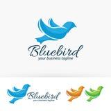 Progettazione di logo di vettore di marca dell'uccello Fotografie Stock Libere da Diritti