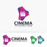 Progettazione di logo di vettore di media del cinema Immagine Stock