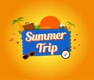 Progettazione di logo di viaggio di estate Immagine Stock Libera da Diritti