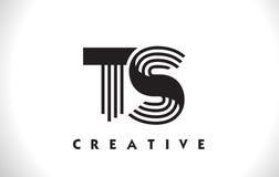 Progettazione di Logo Letter With Black Lines degli ST Linea vettore Illus della lettera Immagini Stock Libere da Diritti