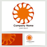 Progettazione di logo, modello del biglietto da visita Fotografie Stock Libere da Diritti