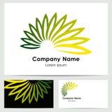 Progettazione di logo, modello del biglietto da visita Fotografia Stock