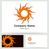 Progettazione di logo, modello del biglietto da visita Immagine Stock
