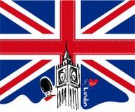 Progettazione di Londra di amore dell'illustrazione/I di vettore di Londra Immagini Stock