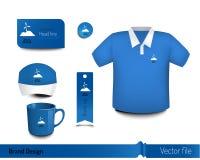 Progettazione di marca con oggetto per aggiungere un'identità Fotografie Stock