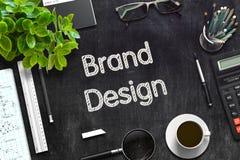 Progettazione di marca sulla lavagna nera rappresentazione 3d immagini stock