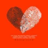 Progettazione di massima del cuore Immagine Stock Libera da Diritti