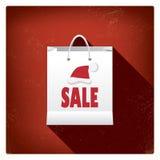Progettazione di massima del sacchetto della spesa di vendite di Natale per Fotografia Stock Libera da Diritti