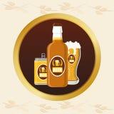 Progettazione di massima della birra Fotografia Stock Libera da Diritti
